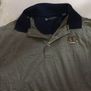 oxford Shirts - Men's Oxford Golf Top Large Striped